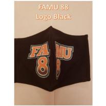 FAMU GREAT 88 COTTON MASK LOGO BLACK - WOMENS-SMALL