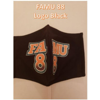 FAMU GREAT 88 COTTON MASK LOGO BLACK - MENS-LARGE