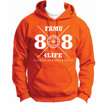 freshman class of 88 hoodie orange xlarge