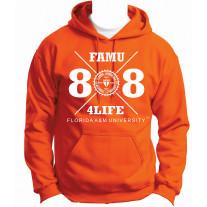freshman class of 88 hoodie orange 2xlarge