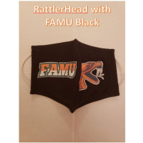 FAMU RATTLER HEAD COTTON MASK BLACK MENS-LARGE