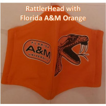 FAMU RATTLER HEAD COTTON MASK ORANGE WOMENS-SMALL