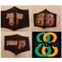 FAMU GREAT 88 COTTON MASK BLACK 3 PACK - MENS-LARGE